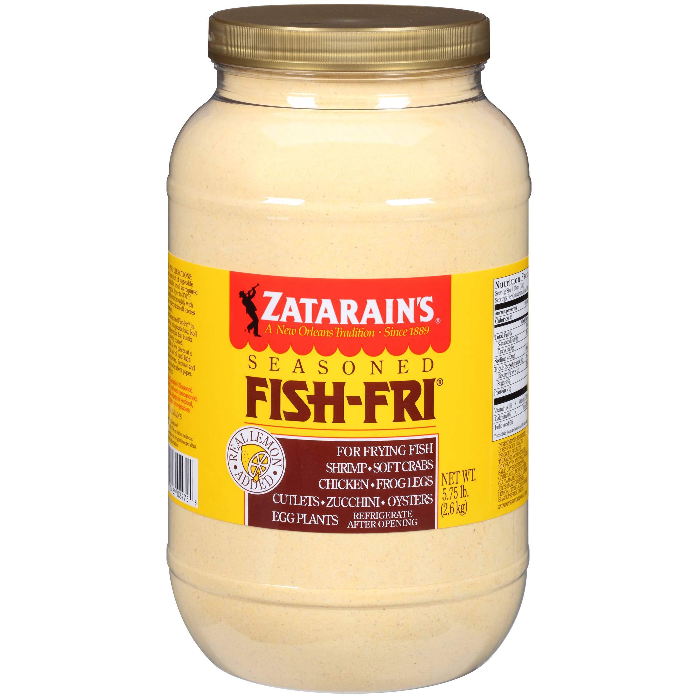 Zatarains Breading Seasoned Fish Fry, 5.75 Pound -- 4 per case.