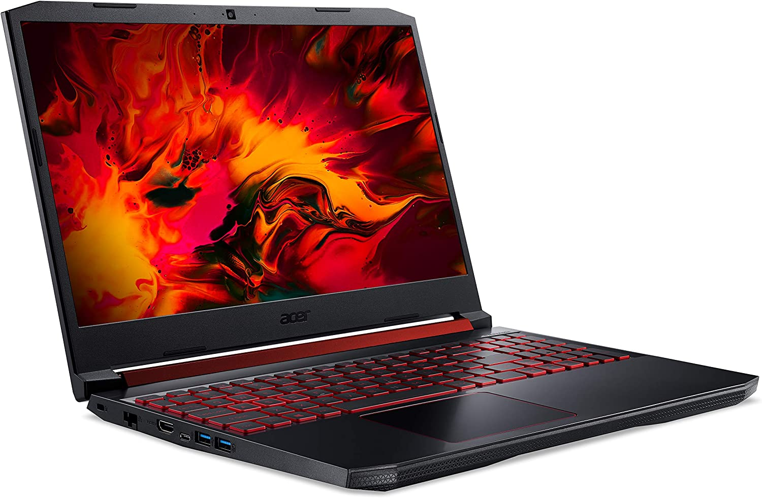 "Acer Nitro 5 AN515-54-55CQ Notebook Gaming, Intel Core i5-9300H, RAM 8 GB, 512 GB PCIe NVMe SSD, Display 15.6"" FHD IPS 60 Hz LCD, NVIDIA GeForce GTX 1650 4 GB GDDR5, Sistema Operativo LINUX"