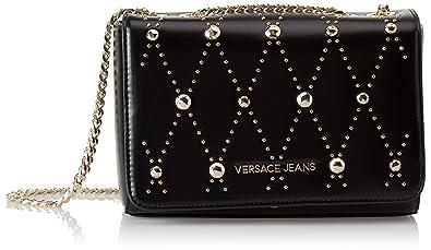 Versace Jeans Damen Ee1vsbbeb Clutch, Schwarz (Nero