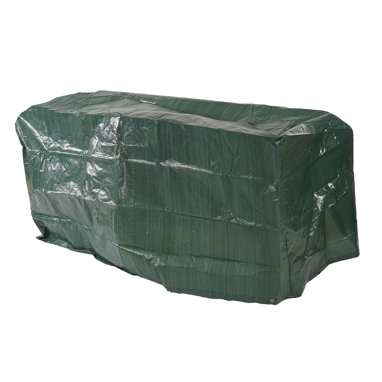 Mendler Abdeckplane Abdeckhaube Schutzplane Schutzhülle Regenschutz für Gartenbänke, 140x70x89cm