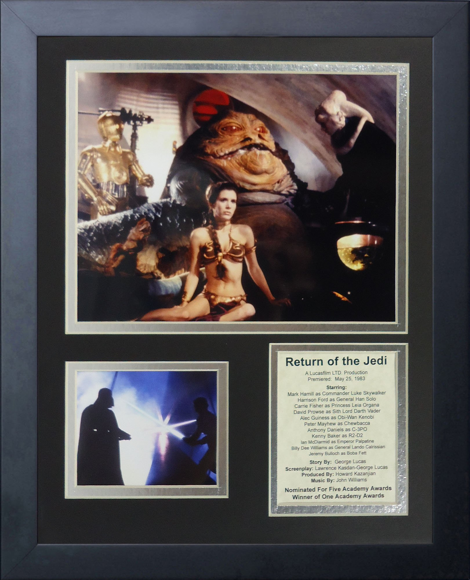 Legends Never Die Star Wars: Return of the Jedi Action Framed Photo Collage, 11 by 14-Inch