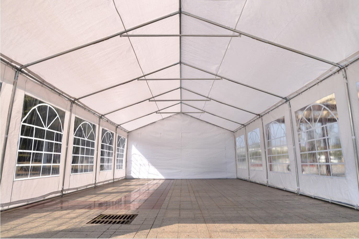 Quictent 20x32 Upgraded Galvanized Heavy Duty Gazebo Party Tent Wedding Canopy Carport Shelter with 5 Carry Bags