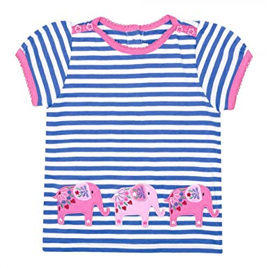 Jojo Maman Bebe Pink Stripe Jersey Dress 6-12 Months Girls' Clothing (0-24 Months) Baby