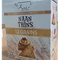 NAAN Thins 12 Grains Snacks,Double Baked Bread 560 g (Portion 20x28 g)