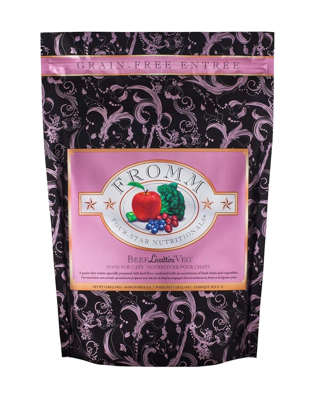 Fromm 4 Star Beef Livattini Veg Dry Cat Food 5lb