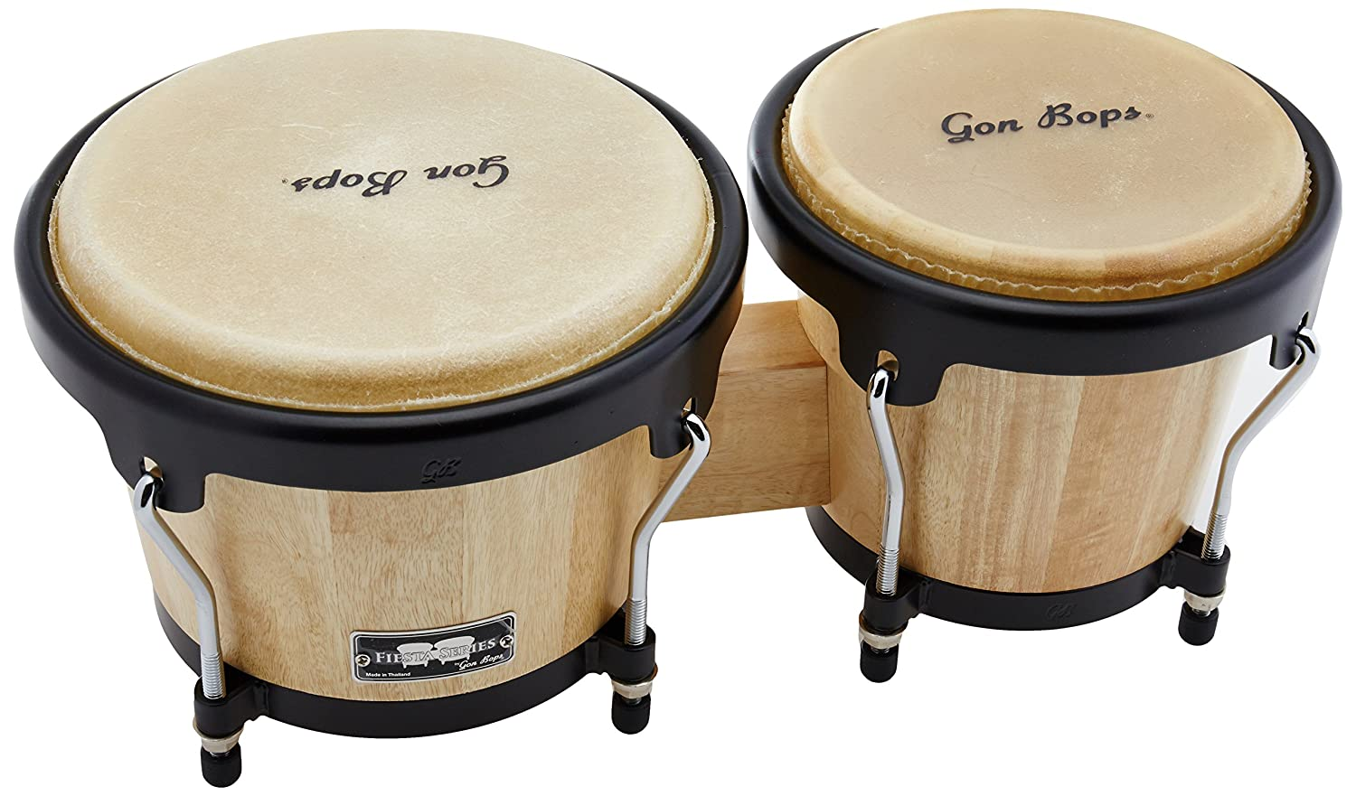 Gon Bops Fiesta Series Bongo, Natural with Black Hardware Inc. FS785N