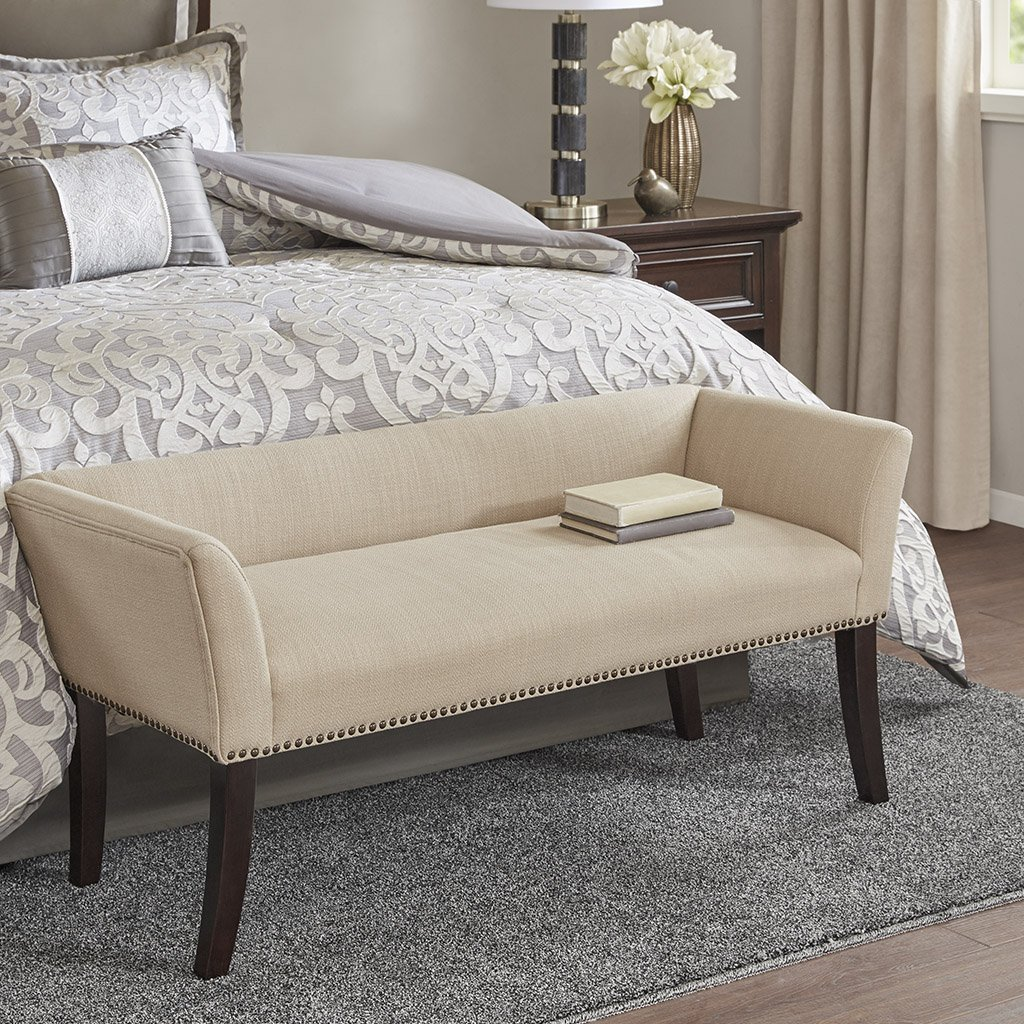 Welburn Accent Bench Cream See below by Madison Park