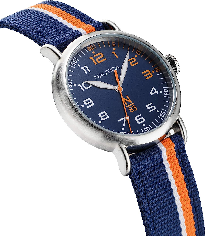 Nautica N83 Men's Wakeland Watch Blue/Orange/White Stripe