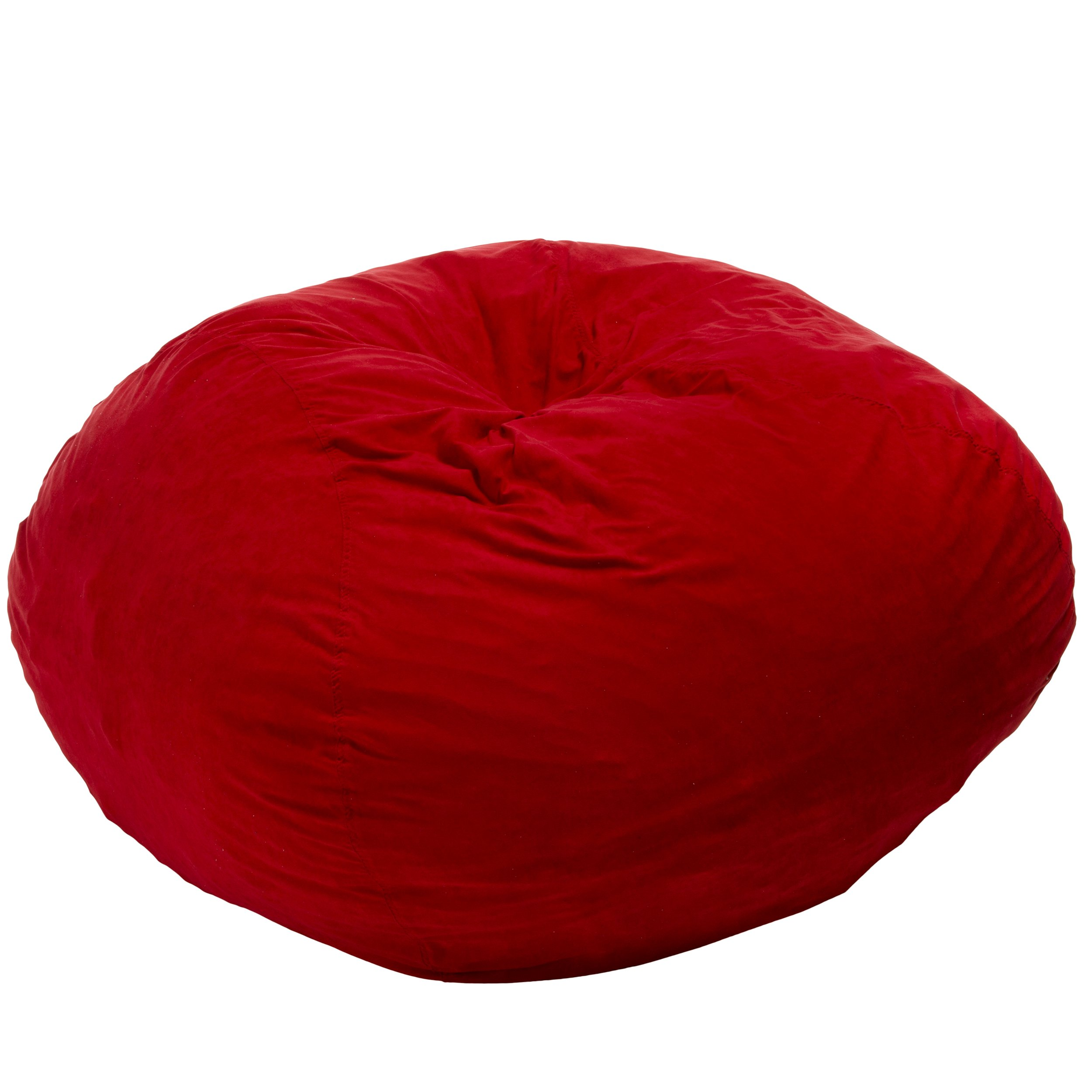Best Selling Mason Faux Suede Bean Bag, 5-Feet, Red