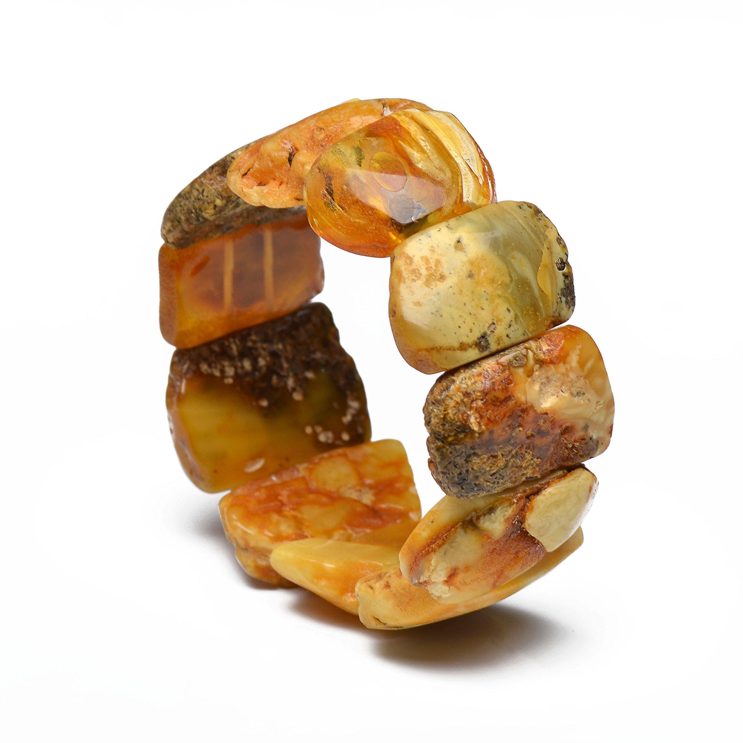Massive Unique Amber Bracelet for Woman - Vintage Amber Bracelet - Handmade Amber Jewelry - 100% Natural Certified Baltic Amber