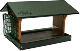 product image for Classic Single Suet Poly Bird Feeder (Turf Green & Cedar, Mount Style - Post Mount)