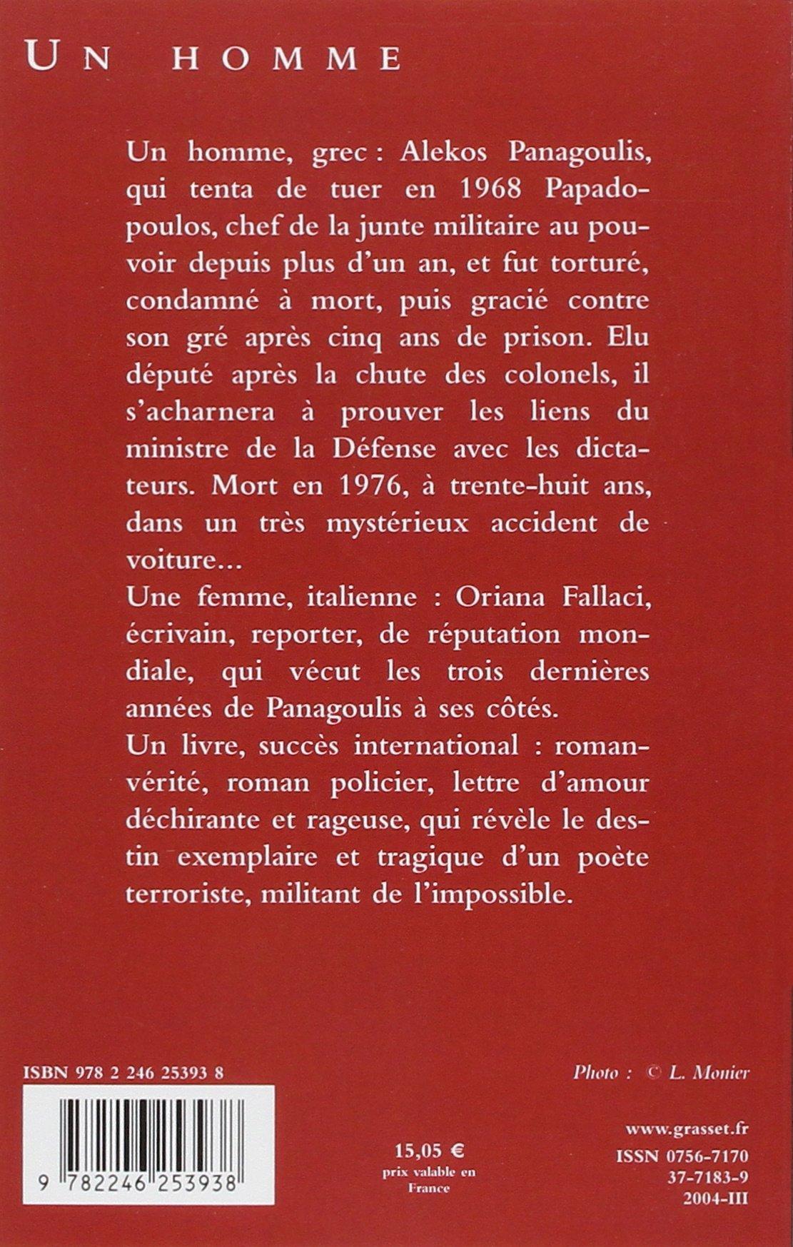 Un Homme Les Cahiers Rouges Amazones Oriana Fallaci