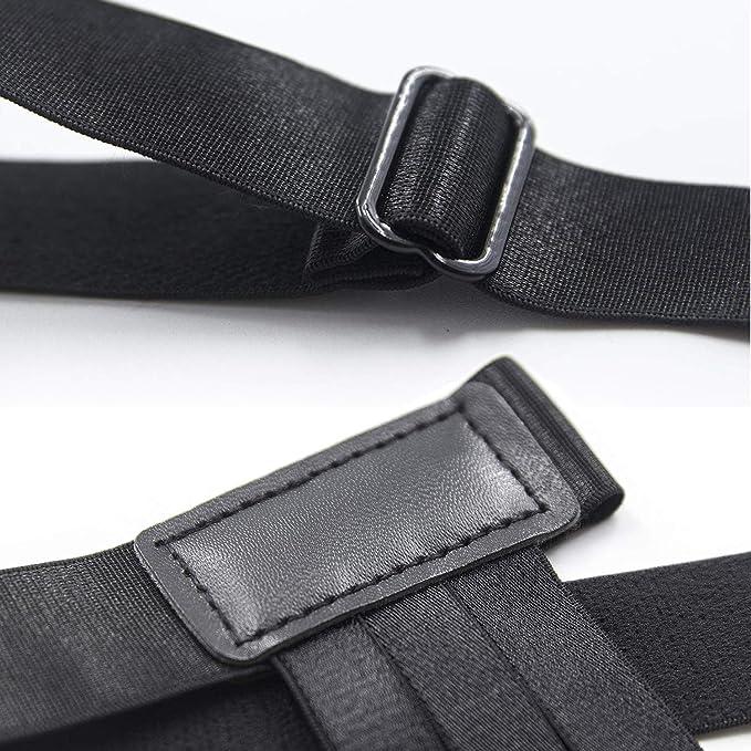 ce505fc694f ANDERK 2 paires Shirt Stays - Sans Chaussette porte Jarretelles avec Pinces  pour Look Soigné et Intelligent pour Homme