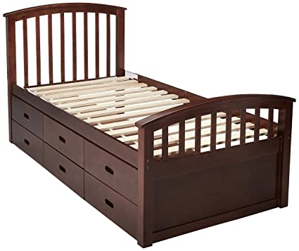 huge discount 41cc2 630d0 DONCO KIDS 425CP 6 Drawer Storage Bed, Twin, Dark Cappuccino