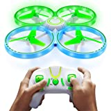 Power Your Fun UFO1 LED Mini Drone for Kids - Small RC Drone for Beginners, Hand Operated Drone with 3 Flying Modes, 3 Speeds