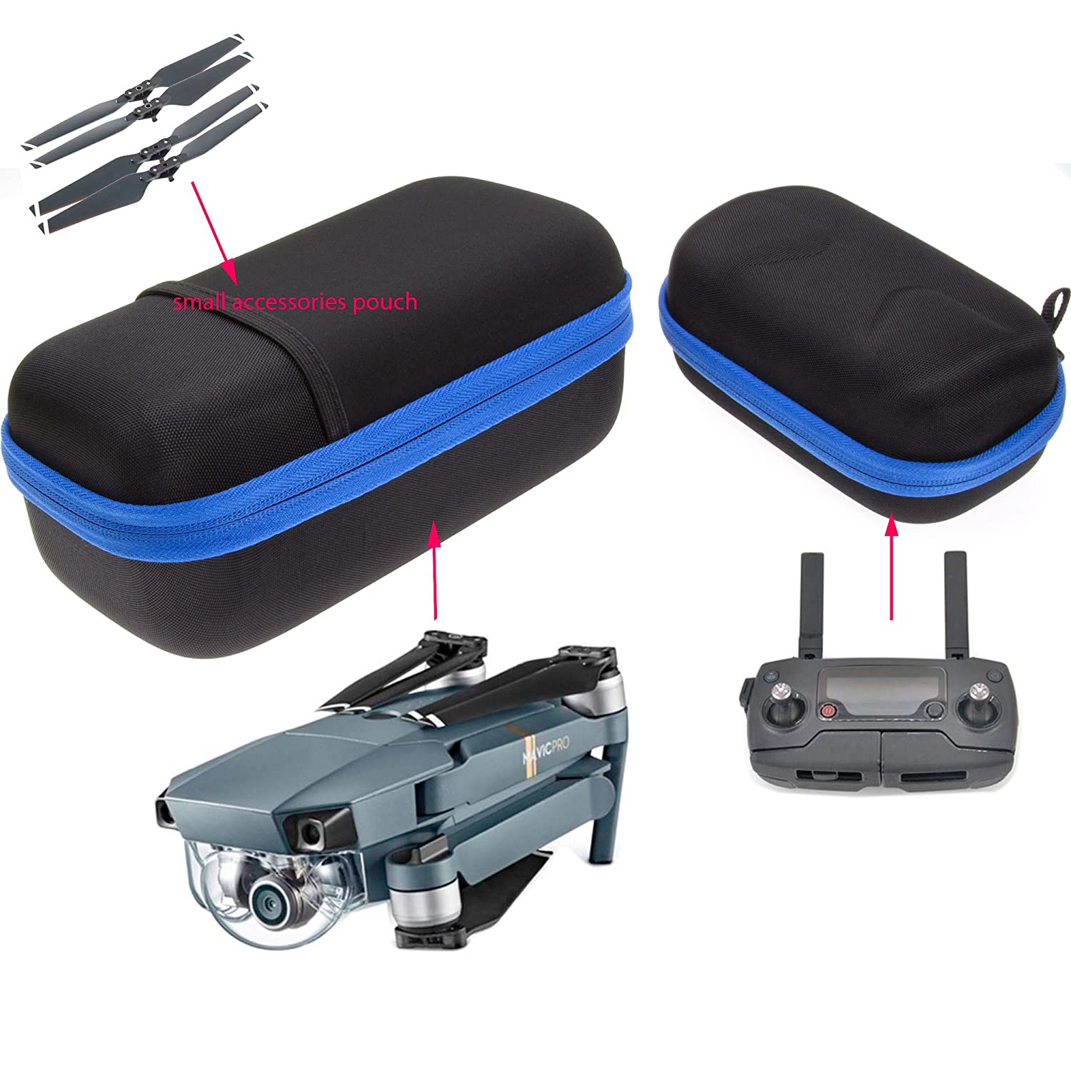 ButterFox Carrying Case Set for DJI Mavic Pro Drone Remote Controller and Small Accessories No Horrible Smell