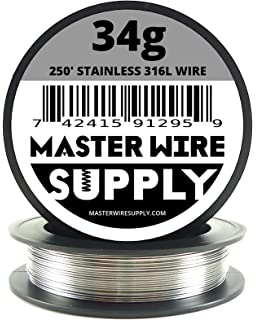 WYTCHPTFE-213 304 Stainless Steel Wire Pack of 5 PTFE Finish 36 Length ASTM A313 0.057 Diameter Spring Temper Precision Tolerance