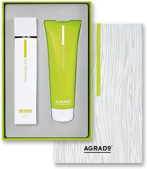 Set de Regalo con Eau De Toilette y Body Milk para mujer 100ml + 100 ml. Sparkling Love, Caja - Agrado.: Amazon.es: Belleza