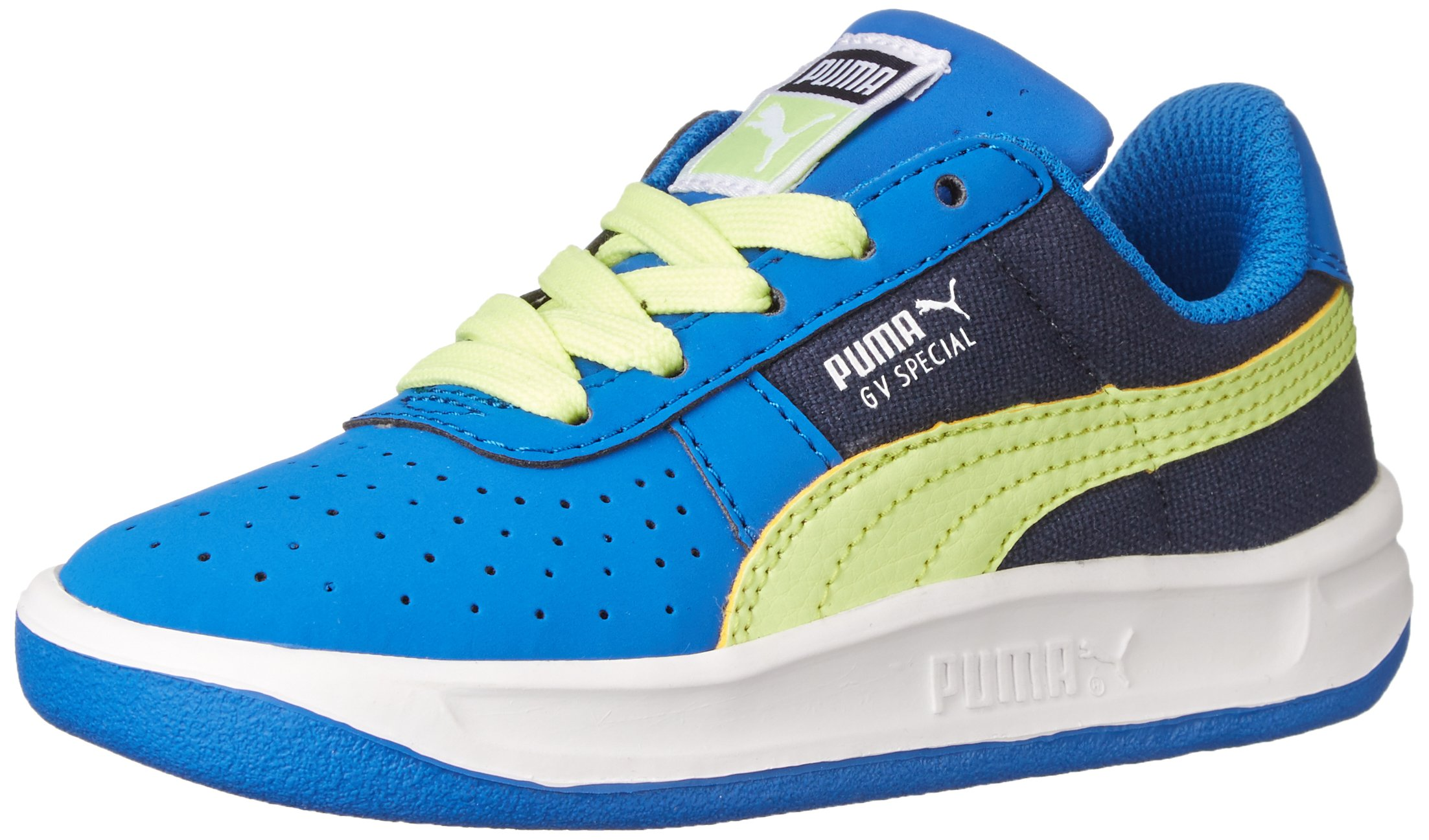 PUMA GV Special Canvas Kids Classic Sneaker (Infant/Toddler/Little Kid/Big Kid), Strong Blue/Peacoat/Sharp Green, 6 M US Toddler
