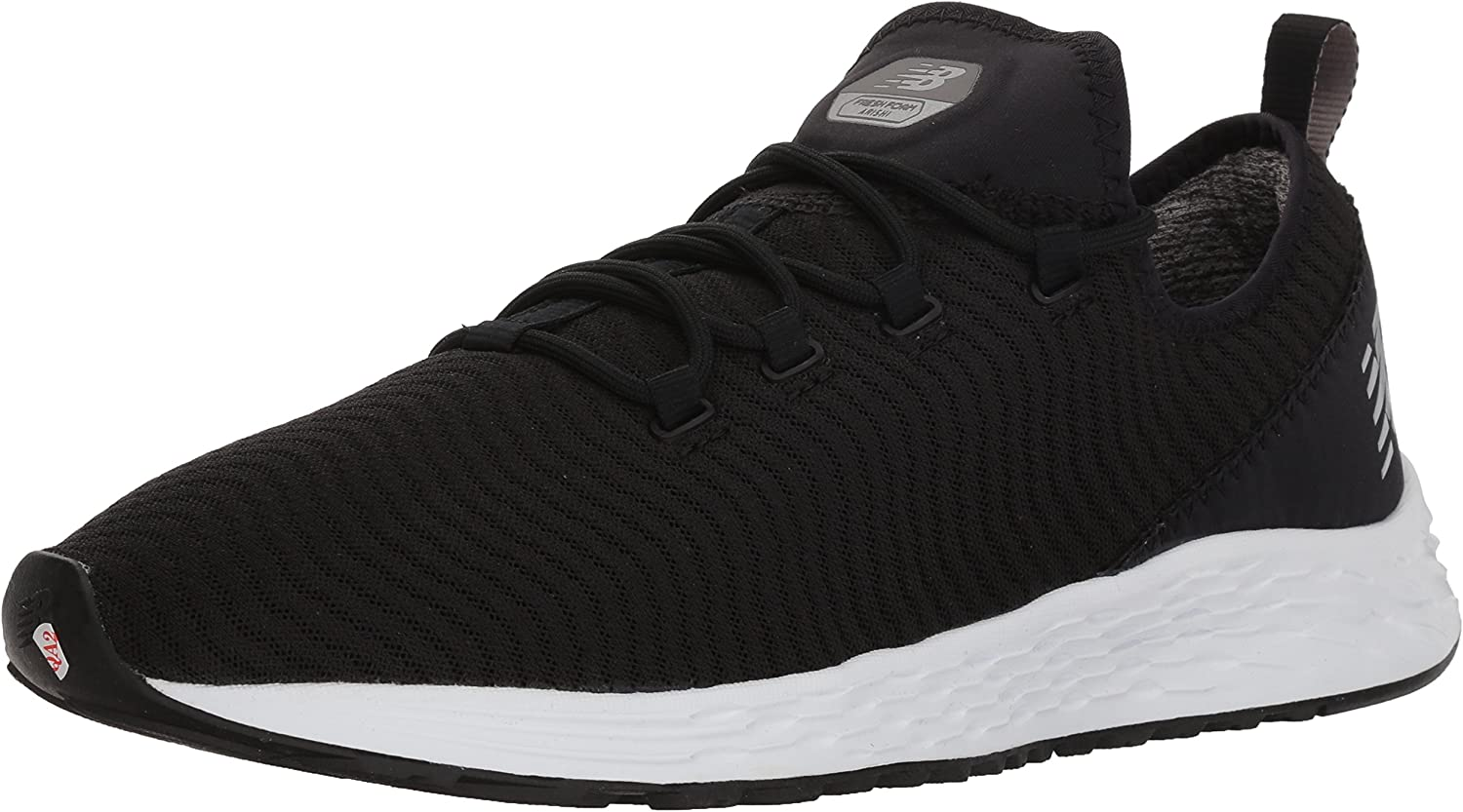 New Balance Men s Arishi v1 Fresh Foam Running Shoe, Black White, 13 D US