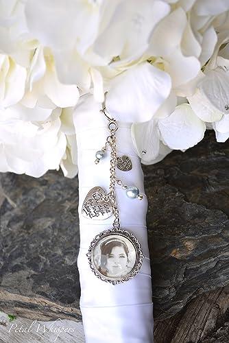Amazon Com Something Blue Bouquet Charm Wedding Bouquet Pendant
