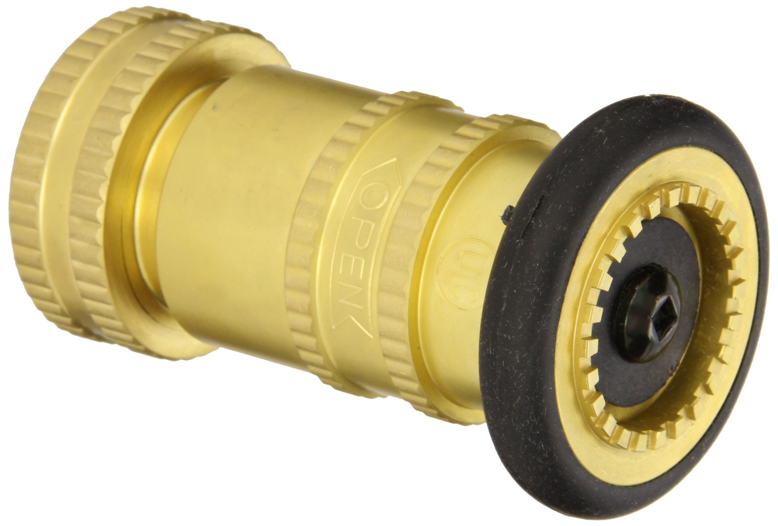 Moon 7171-1511 Brass Fire Hose Nozzle, Industrial Fog, 85 gpm, 1-1/2'' NPSH