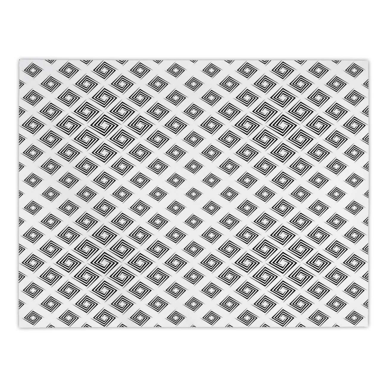 iPrint Rectangular Satin Tablecloth,Abstract,Minimalist Geometric Diamond Shaped Inner Square Infinite Symmetric Lines Pattern Decorative,Black White,Dining Room Kitchen Table Cloth Cover
