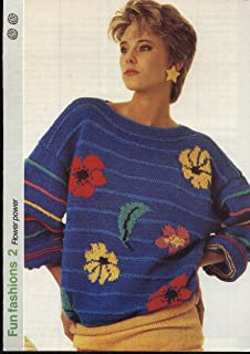 2f256658d3a8 GET KNITTING knitting pattern LADIES FLOWER POWER SWEATER (34-36in) (Fun  Fashions