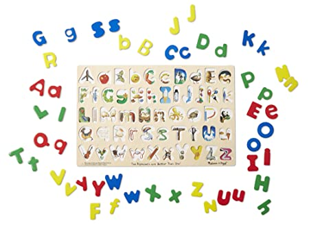 Amazon.com: Melissa & Doug Upper & Lower Case Alphabet Letters ...