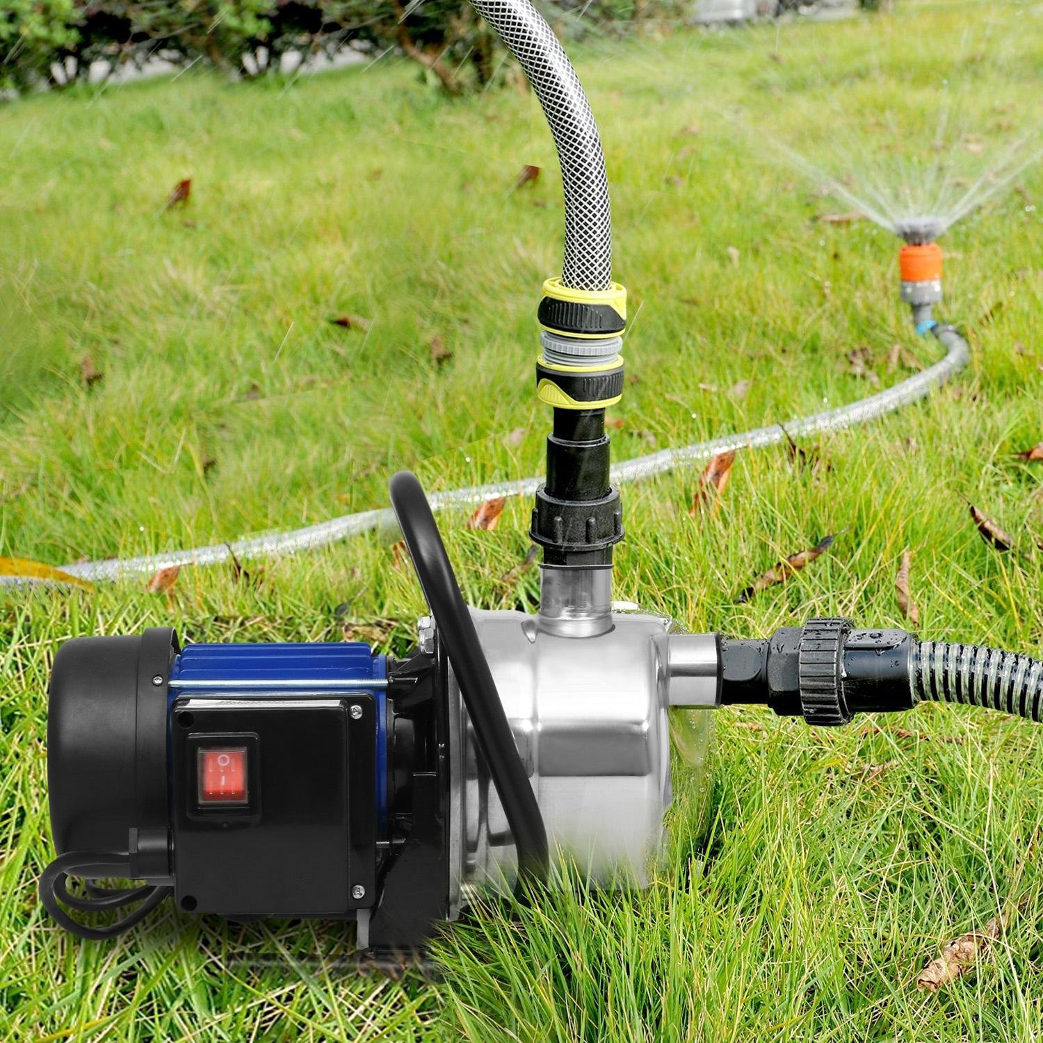 Meflying 1.6HP Lawn Sprinkling Pump , Automatic ON/OFF Booster Pump for Garden Yard Outdoors Home Irrigation(US STOCK)