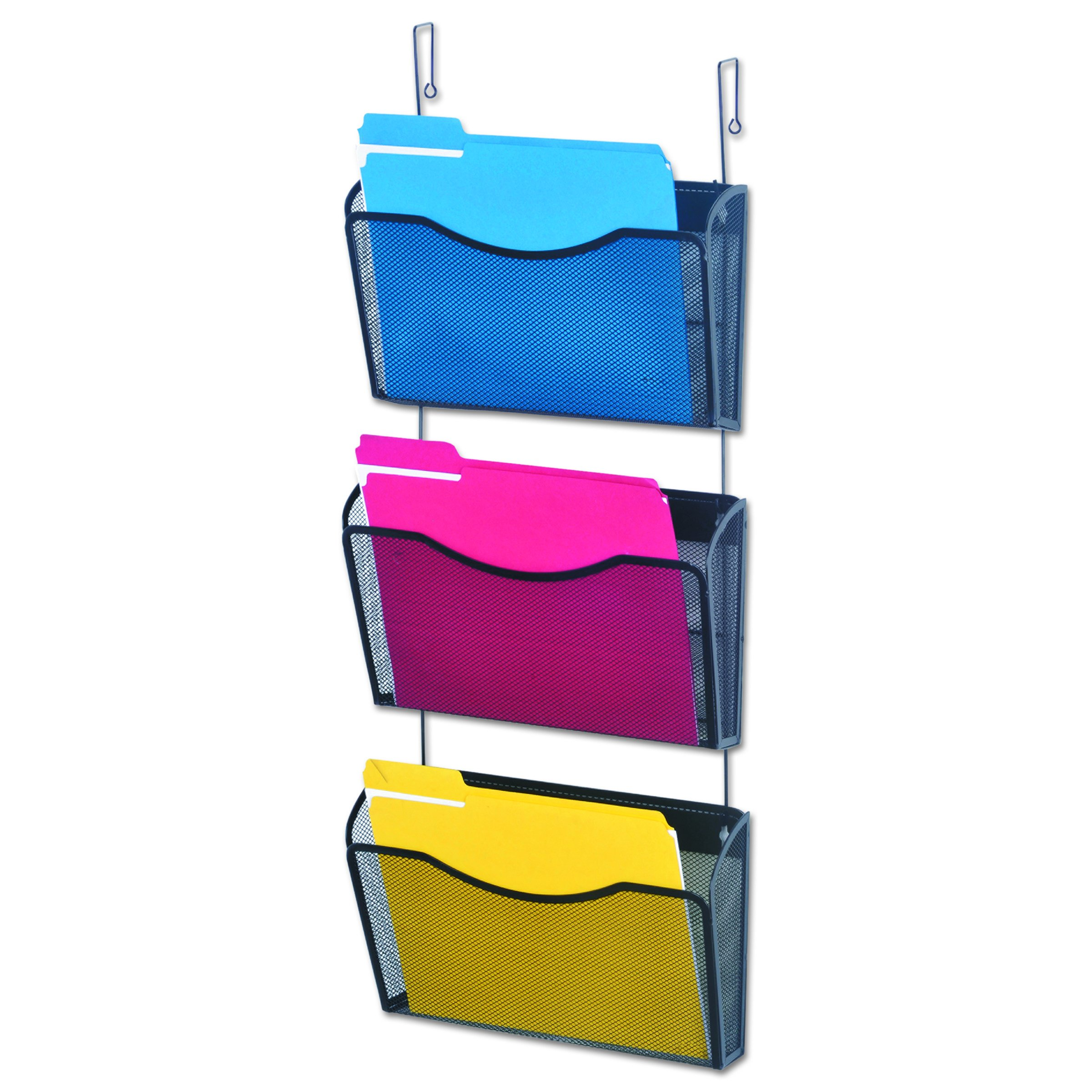 Universal 20011 Mesh Three-Pack Wall Files with Hanger, Letter, Black by Universal One (Image #1)