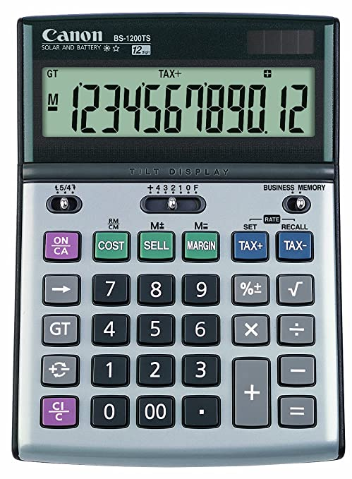 Amazon.com : Canon Office Products BS-1200TS Business Calculator ...
