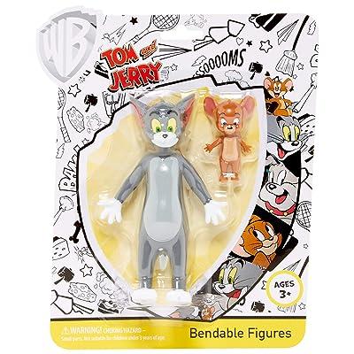 NJ Croce 2-Pack Tom & Jerry Flexible Figure, Multi-Colour (NJC00HB4901): Toys & Games