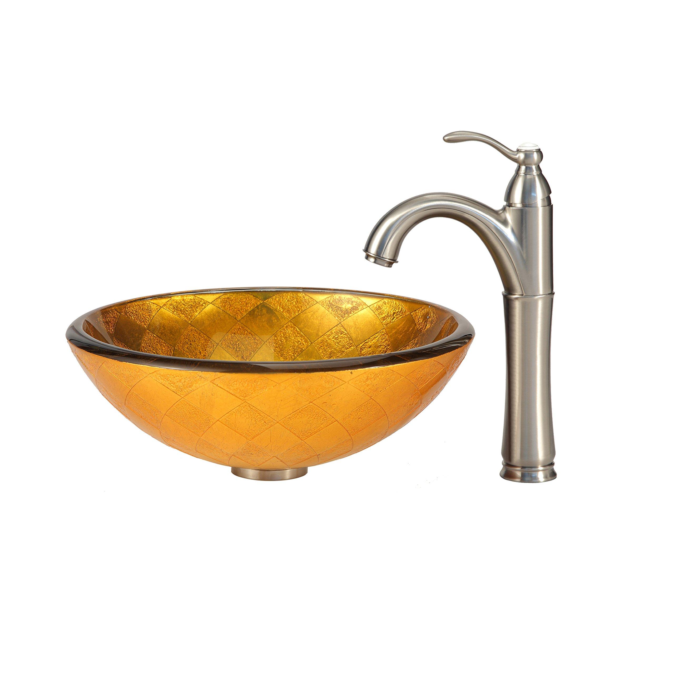 Kraus GV-691-19mm Orion Glass Vessel Bathroom Sink