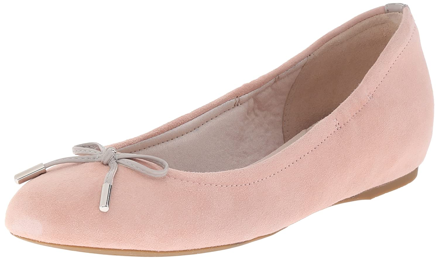 Pink Haze Kid Suede Rockport Women's Total Motion Hidden Wedge Tied Ballet Flat