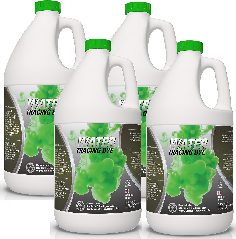 Verde Líquido Alcantarillado rastreo y fluorescente de detección de fugas, no tóxico, de colorantes 4 galones