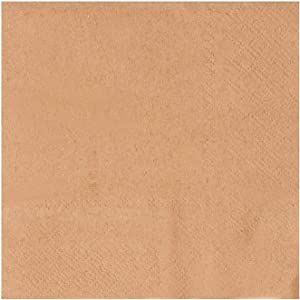 Kraft Party Supplies, Brown Paper Napkins (5 x 5 In, 250 Pack)