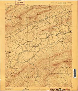 YellowMaps Abingdon VA topo map, 1:125000 Scale, 30 X 30 Minute, Historical, 1894, Updated 1899, 19.2 x 16.5 in