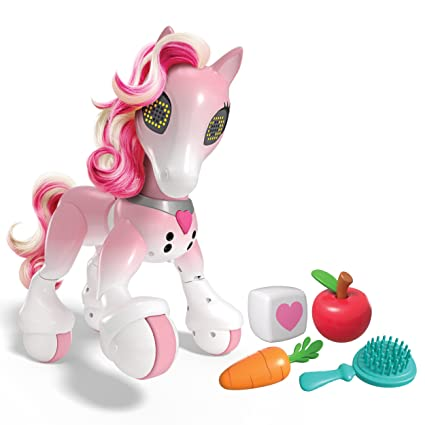 Amazon Com Zoomer Show Pony With Lights Sounds And Interactive