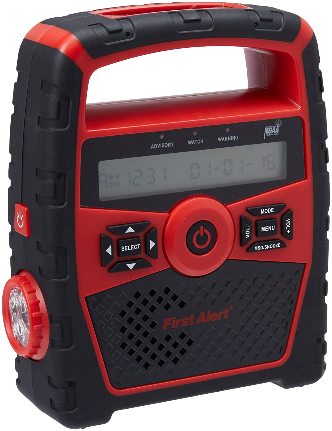 First Alert SFA1180 Portable AM/FM Weather Band Radio with Clock and S.A.M.E. Weather Alert
