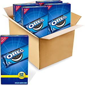 OREO Chocolate Sandwich Cookies, 48 - 2 oz Snack Packs (4 Boxes)