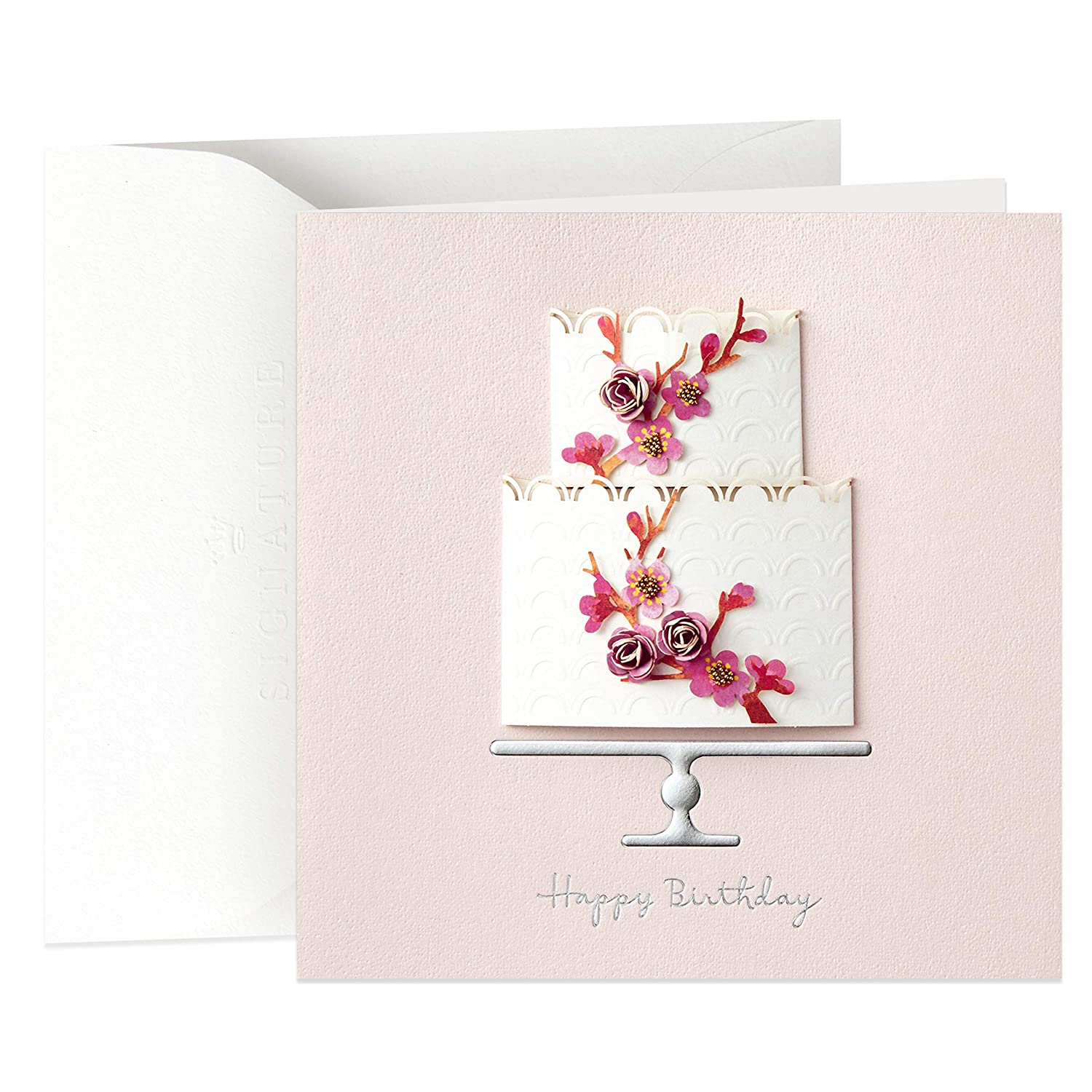 Amazon Hallmark Signature Birthday Card For Her Cake Office Products