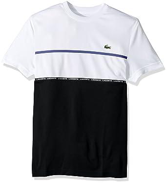 9c2ce061 Lacoste Men's Tennis Short Sleeve Tech Pique Chest Tape Detail T-Shirt |  Amazon.com