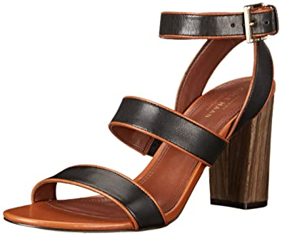 Cole Haan Women's Delilah Dress Sandal, Black Leather, ...