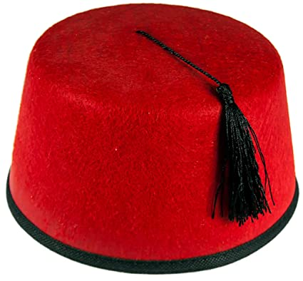 20aeda31ad95b0 B &S Trendz RED Felt FEZ HAT Tommy Cooper Turkish Black Tassels Unisex Cap  Fancy Dress