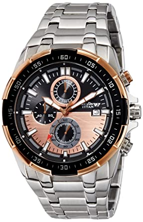 3dae9c01a9f Buy Titan Chronograph Black Dial Men s Watch -90044KM04 Online at ...
