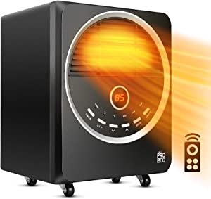 Space Heater-1500W Electric Heater With 3 Heating Modes,Tip-Over& Overheat Protection, Portable Heater with 4 Wheel, Quiet, Timer Heater for Indoor Use