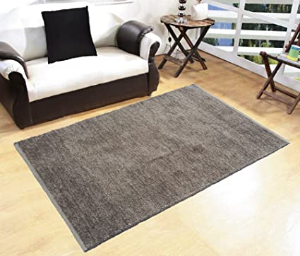 Glamkaart Grey Both Side Usable Soft Rug 3x5 Feet