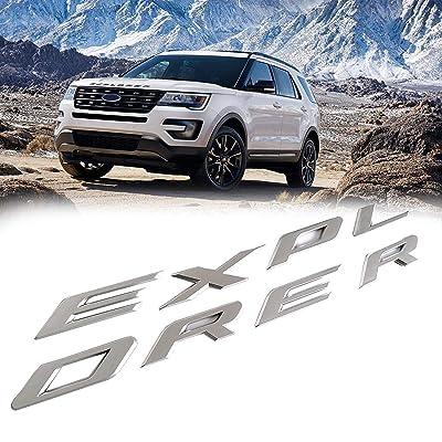 3D Letters ABS Front Hood Emblem Explorer Sport Hood Letters Stickers For Ford 2011-2020(Matte Silver): Automotive