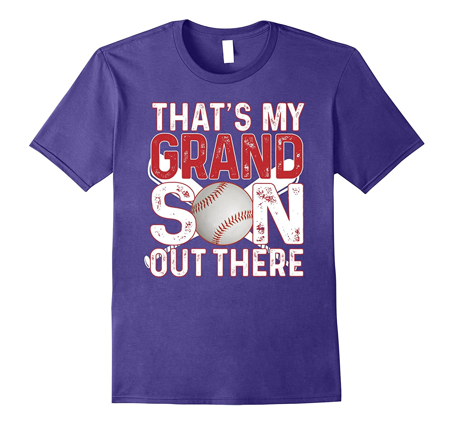 Thats My Grandson Out There Baseball T-Shirts for Mens Boys-CD
